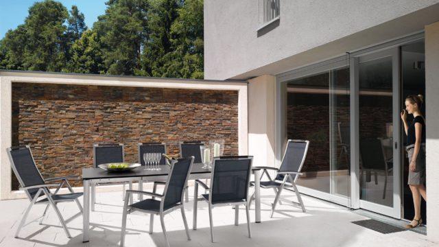 Trento klappbare Sonnenliege und Stapfelstühle